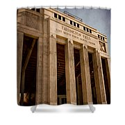 Farrington Field Facade Shower Curtain