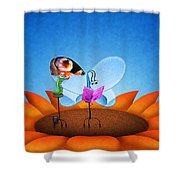 Fashion Butterfly Shower Curtain