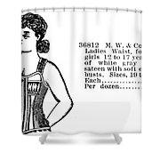 Fashion Corset, 1895 Shower Curtain
