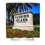 Fashion Island Sign In Newport Beach California Shower Curtain