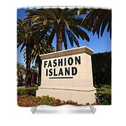 Fashion Island Sign In Orange County California Shower Curtain by Paul Velgos