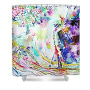 Fashion Lady And Death Under A Tree Shower Curtain