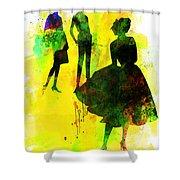 Fashion Models 2 Shower Curtain