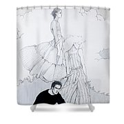 Fashion On A Hill Shower Curtain by Sarah Parks