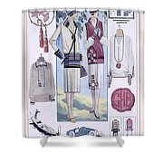 Fashion Plate, From La Femme Chic Shower Curtain