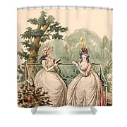 Fashion Plate Of Ladies In Summer Day Shower Curtain
