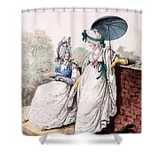 Fashion Plate Of Ladies Morning Dress Shower Curtain