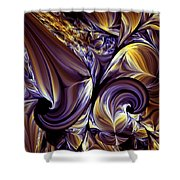 Fashion Statement Abstract Shower Curtain