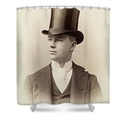 Fashion Top Hat, C1880 Shower Curtain