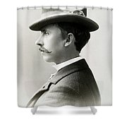 Fashion Trilby Hat, 1896 Shower Curtain