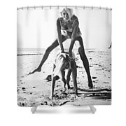 Fashion: Womens Swimsuits Shower Curtain