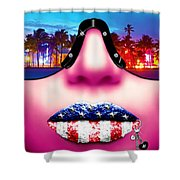 Fashionista Miami Pink Shower Curtain