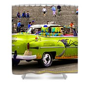 Fast And Furious In Cuba Shower Curtain