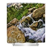 Fast Moveing Stream Shower Curtain