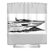 Fast Riva Motoryacht Shower Curtain by Jack Pumphrey