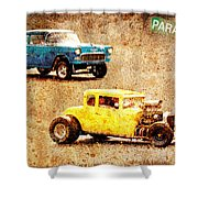 Fastest Car In The Valley Shower Curtain