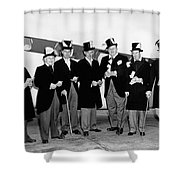 Fat Cats In Tuxedos Shower Curtain