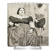 Fat Lady & Thin Man Shower Curtain