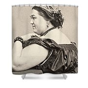 Fat Lady, 19th Century Shower Curtain