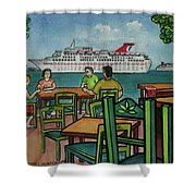 Fat Tuesdays In Cozumel Yucatan Mexico Shower Curtain