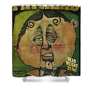 Fathead Poster Shower Curtain