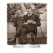 Father And Daughter Shower Curtain