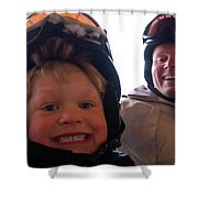 Father And Son At Big Mountain Shower Curtain
