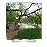Father And Son Hike Shower Curtain
