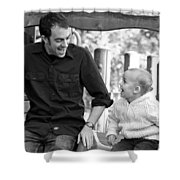 Father And Son II Shower Curtain