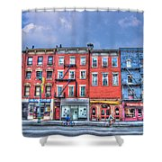 Father And Son - Manhattan Bike Ride Shower Curtain