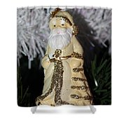 Father Christmas Ornament Shower Curtain