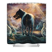 Father Goose Shower Curtain