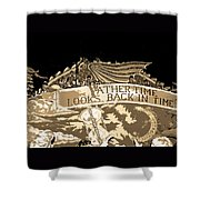 Father Time Looks Back Shower Curtain