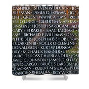 Fathers Sons And Brothers Of The Wall Shower Curtain