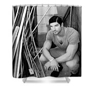 Faubourg Alley Man Bw Shower Curtain