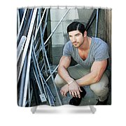 Faubourg Alley Man Shower Curtain