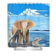 Faune D'afrique Centrale 02 Shower Curtain