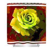 Fauvism Roses Triptych Shower Curtain