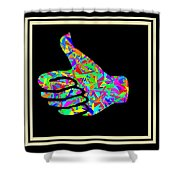 Fauvism Thumbs Up Shower Curtain