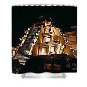 Faux Myan Pyramid Shower Curtain