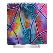 Faux Stained Glass II Shower Curtain