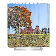 Favoring The Fall Colors Shower Curtain