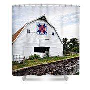 Fayette Farmers Daughter Quilt Barn Shower Curtain