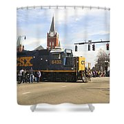 Fayetteville Christmas Parade Shower Curtain