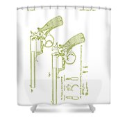 F.b.e Beaumont Revolver Patent Shower Curtain