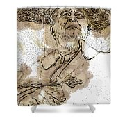 Fdr - 3164 Brown Water Sketch Shower Curtain
