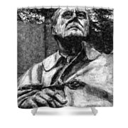 Fdr - 3164 Graphic Drawing 2 Hp Shower Curtain