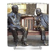 Fdr And Churchill Having A Chat In London Shower Curtain