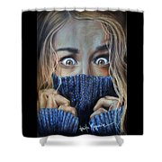 Eyes Shower Curtain by Leida  Nogueira