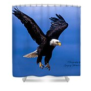 Fearsome Bald Eagle Shower Curtain